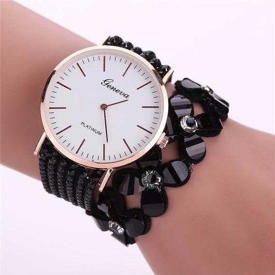 Relógio Feminino Barato Strass Bracelete Promoção Lancamento