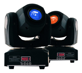 2 Moving Head Spot Led Osram 40w 8 Cores + 8 Desenhos Dmx Dj