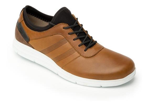 Tenis Zapato Piel Flexi Cafes Comodos Caballero Promocion