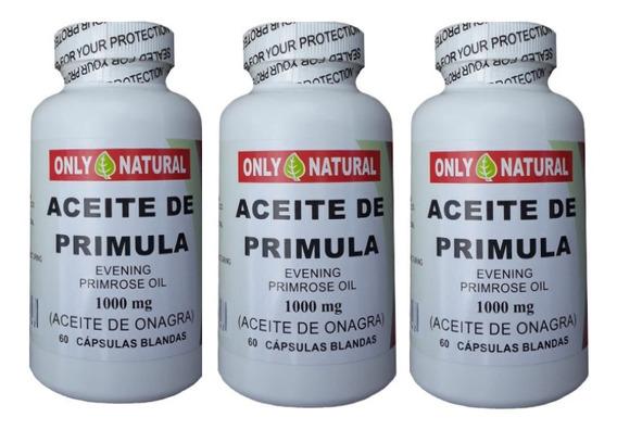 Aceite Onagra Americano 1000 Mg Maximo Gramaje Promocion 3