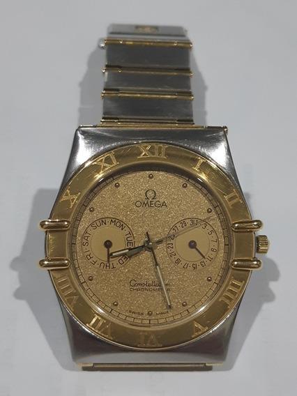 Relógio Omega Constellation Day-date Aço E Ouro - Quartz