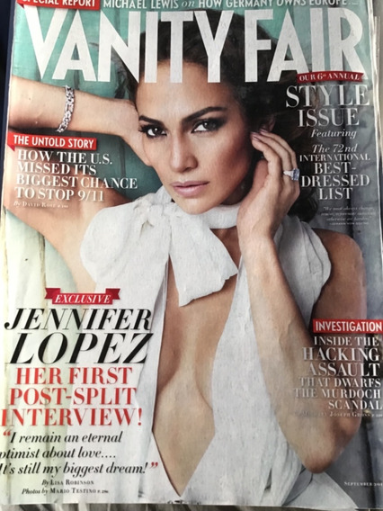 Vanity Fair September 2011 Capa Jennifer Lopez