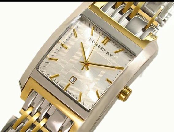 Reloj Burberry Original Zafiro Chapa De Oro
