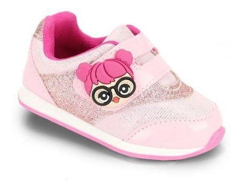 Tênis Infantil Bebê Menina Rosa Confortável Calçado 16 Ao 22