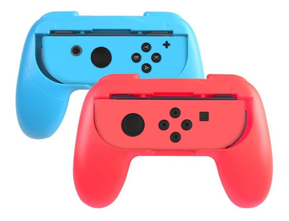 Adaptador Controle Nintendo Swtich Capa Grip Suporte Mario2