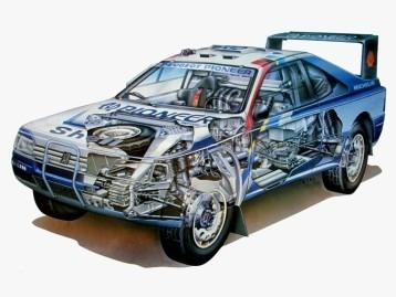Peugeot 405 - Rally - Autos De Francia - Lámina 45x30 Cm.