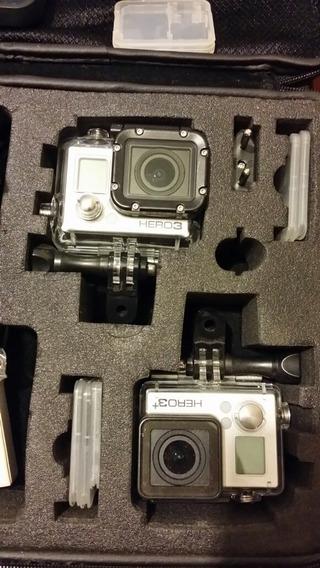 2 Cameras Gopro 3 E 3+ Com 5 Baterias, Monitor E Case.