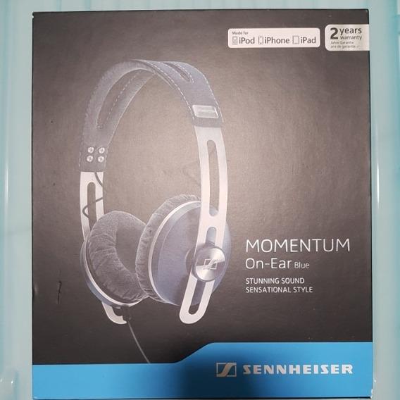 Fone De Ouvido Sennheiser Momentum On Ear Blue **black**