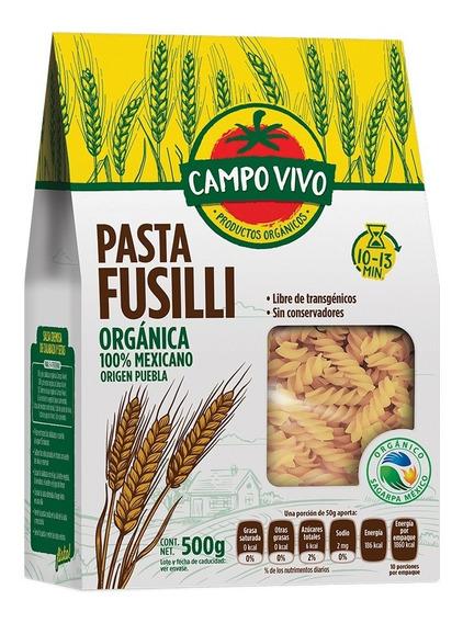 Pasta Fusilli Orgánica Campo Vivo 500g