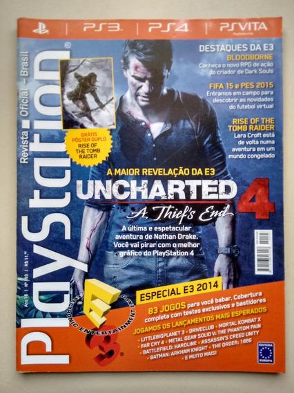 Revista Playstation 193 Uncharted 4 Fifas Pes 83 Jogos B530