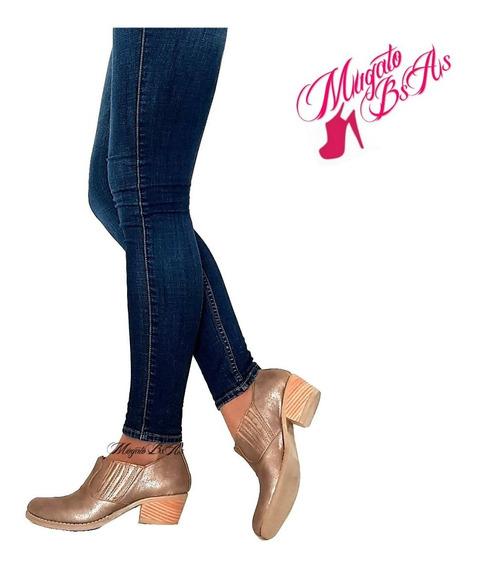 Zapatos Mujer Escote Charritos Botas Botitas Taco De 5 Moda