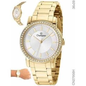 Relógio Champion Feminino Dourado Cn27956h Médio