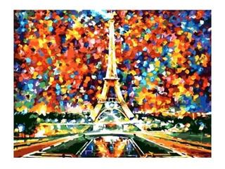 Kit Pintura Al Oleo París Enumerado Pintura Pinceles