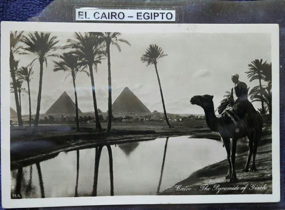 Antigua Postal De El Cairo Egipto