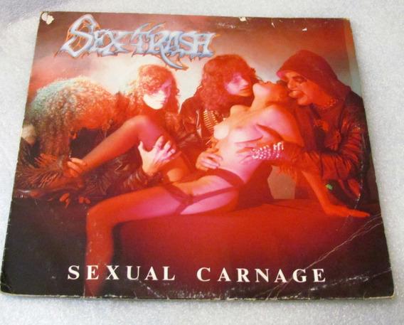 Lp - Sextrash Sexual Carnage Encarte Selo Raro Zerado Epoca