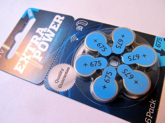 Pilha Bateria Extra Power N675 Aparelho Audição 60 Unidades