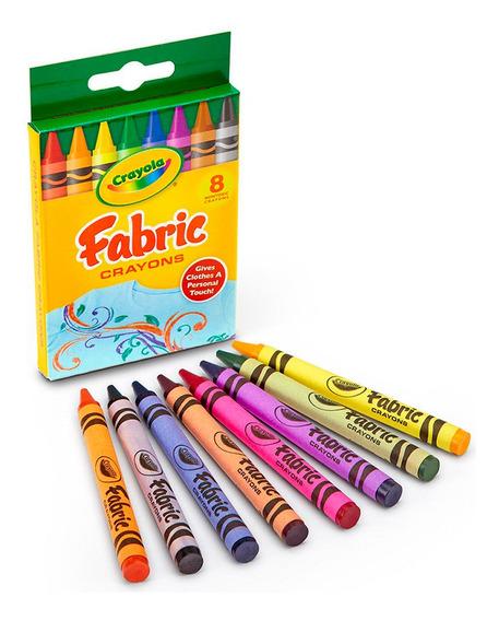 Crayola Crayones Para Tela Fabric X 8 Unidades Wabro