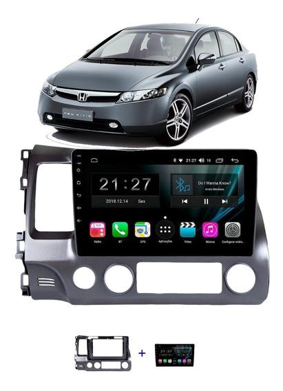 Multimidia Honda Civic 07/11 Aikon Atom Android 8.1 Tela 10