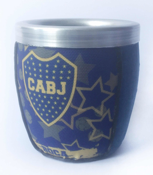 Mate Argentino De Vidrio. Gran Capacidad. Boca Juniors.