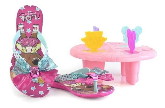 Rasteira Lol Summer Barbie Rosa Verde - 22270