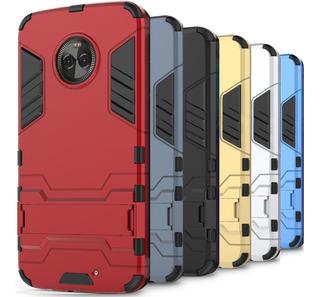 Funda Case + Cristal Uso Rudo Moto X4 E5 G6 Z2 Play Plus