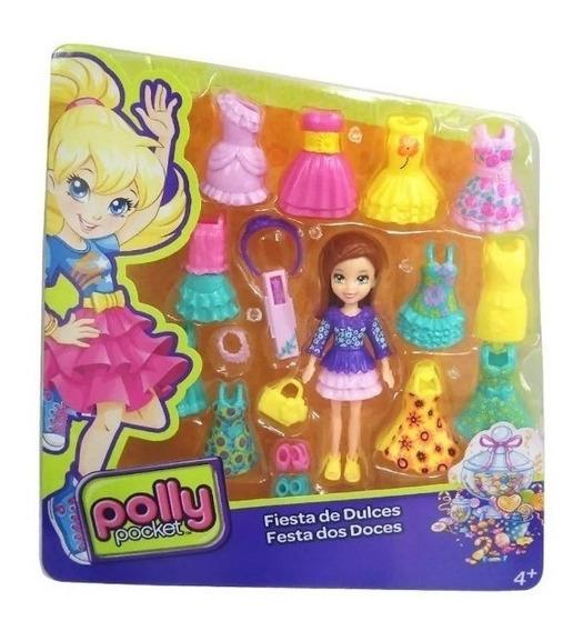 Juego Fiesta De Dulces Polly Pocket Juguete Para Niñas Pp.