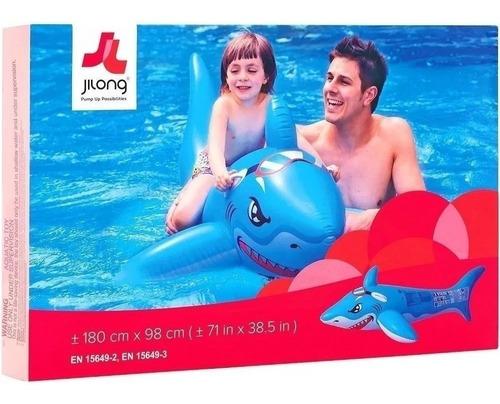 Tiburon Gigante Inflable Flotador Jilong 31226