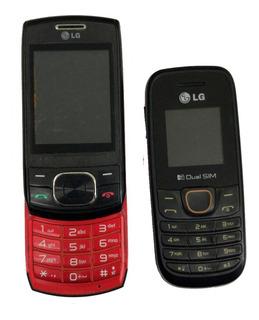 Lote C/ 2 Celular Lg A275/ Gu230 No Estado