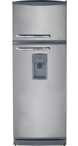 Heladera Conqueror Con Freezer Y Dispenser 328l Color Plata