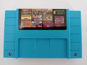 Cartucho Fita Super Nintendo Donkey Kong Trilogia 49 Jogos
