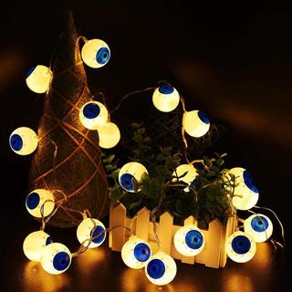 Serie 20 Luces Led Ojos Decoración Día De Muertos Halloween
