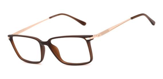 Armação Oculos Ogrife Og 1977-c Masculino Com Lente Sem Grau