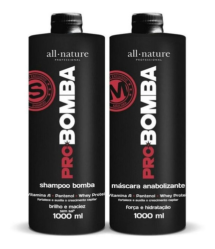 Kit Shampoo E Máscara Pro Bomba - All Nature