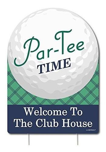 Imagen 1 de 7 de Tiempo De Parte  Golf  Decoraciones Para Fiesta De Cumpleaño