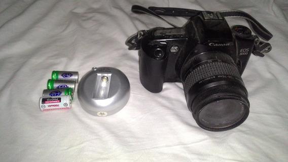 Câmera Analógica Canon Eos3000 + Lente + Carregador +bateria