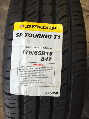 Imagen 1 de 4 de Neumatico 175/65/15 Dunlop Touring T1 (t)- Gomeriaonline