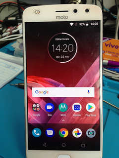 Smartphone Moto Z2 Play 64gb Dourado Xt1710 *leia Antes