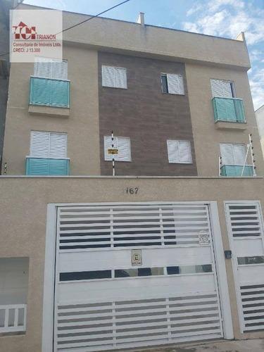 Apartamento Com 2 Dormitórios À Venda, 42 M² Por R$ 265.000,00 - Parque Novo Oratório - Santo André/sp - Ap3137