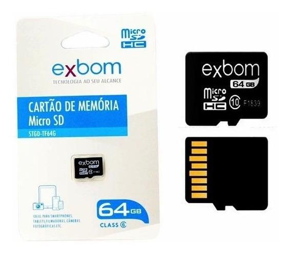 Cartão De Memória Exbom 64 Gb 100% Original