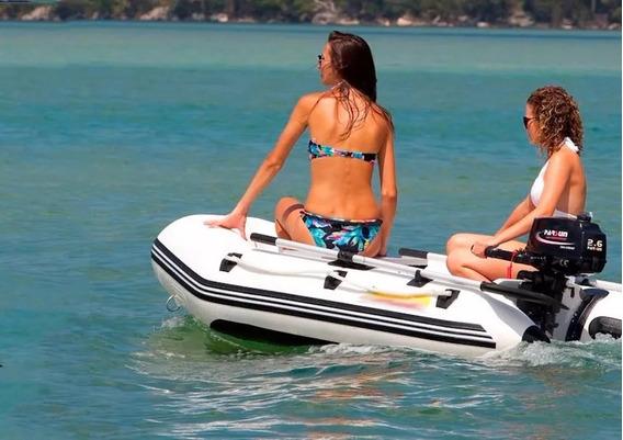 Bote Inflable Combo 2m Motor 4t De 2.6hp Ideal Vacaciones