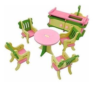 Twenis 112 Juego De Muebles De Casa De Muñecas De 5 Accesori