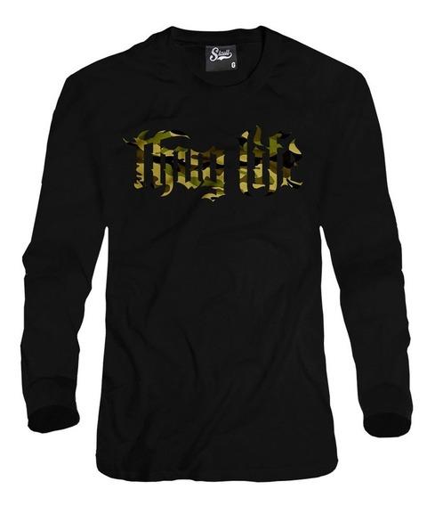 Blusa De Frio Thug Life Camuflado Army Soldier Gangster Swag
