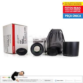 Como Nova Lente Ef 100mm F/2.8 L Is Usm Macro Canon 12x S/j