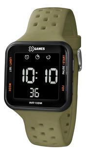 Relógio X-games Masculino Digital Xgppd100 Verde Militar