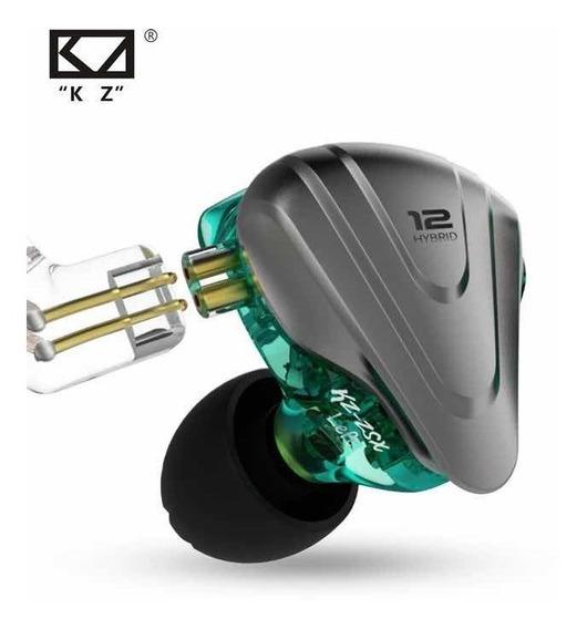 Fone Kz Zsx 12 Drives In-ear Retorno De Palco Profissional B