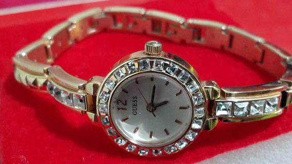 Reloj Guess Dama Jewelry Inspired Modelo: U0429l3 Original
