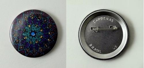 Button Alfinete (100 Unidades) 45mm