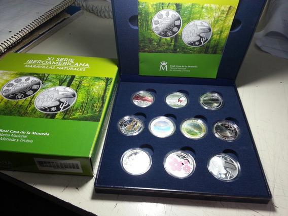 Serie 10 Monedas Plata Completa Iberoamericana Xi 2017 Proof