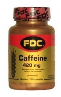 Caffeine 420mg Fdc 120 C Cafeína Importada Concentrada Pura