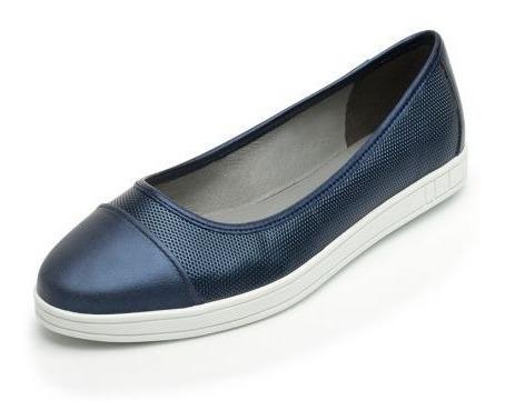 Zapato De Dama Cerrado Marino Flexy 24.5